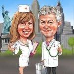 Врач и медсестра на юбилее