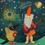 Татарско-русская новогодняя песенка под гармонь