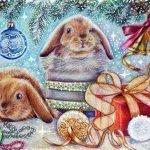 Вас поздравить с Новым годом (Поздравление от Зайца в стихах)