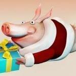 Год Свиньи! - веселые новогодние кричалки для шумной компании
