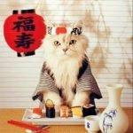 Японец с переводчиком на юбилее