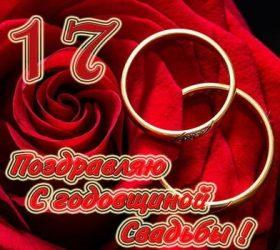 17 лет — Розовая свадьба. Стихи и поздравления