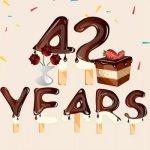 42 года — стихи и поздравления